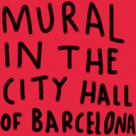 Mural in the City Hall of Barcelona